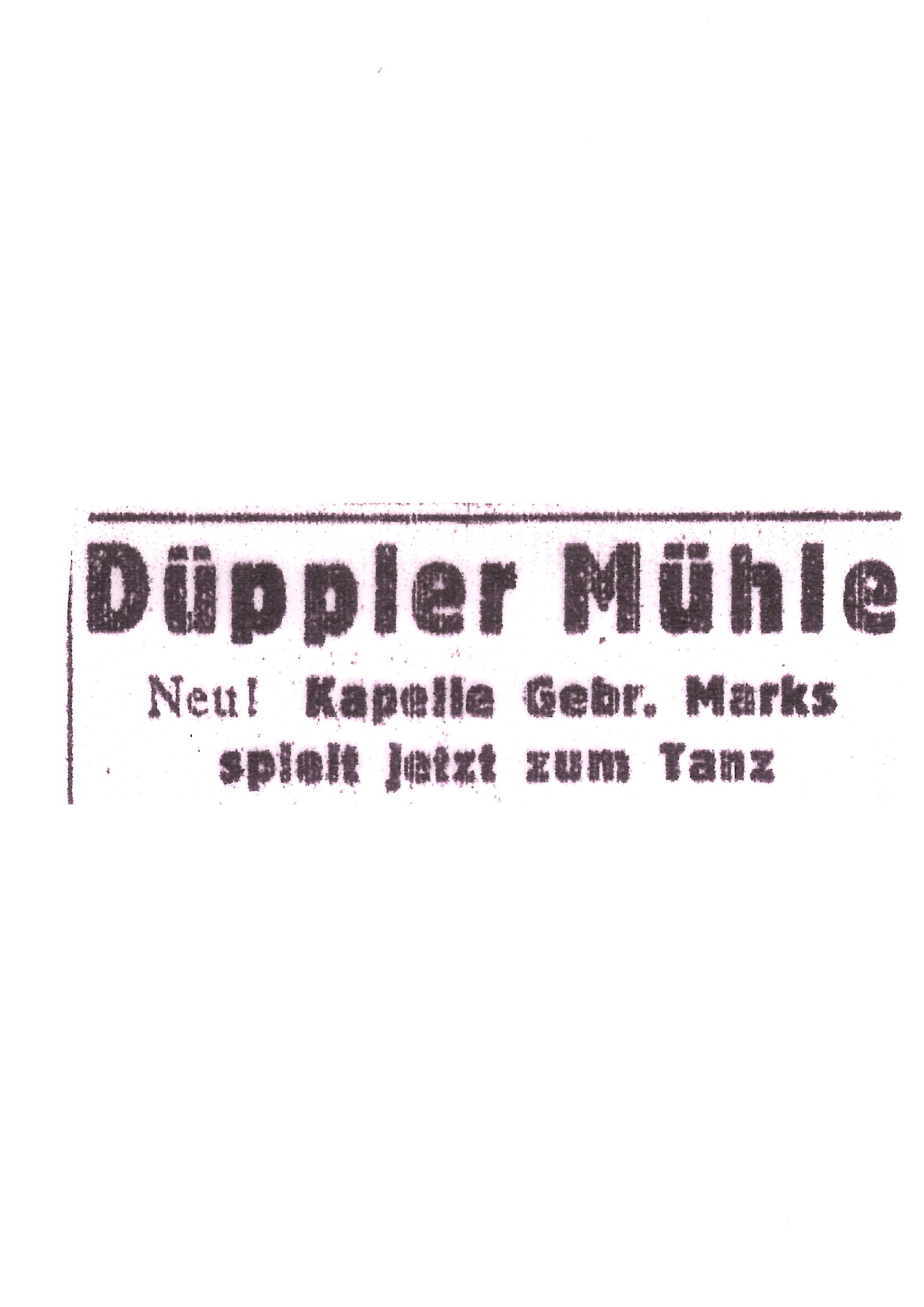 Düppler Mühle 1934